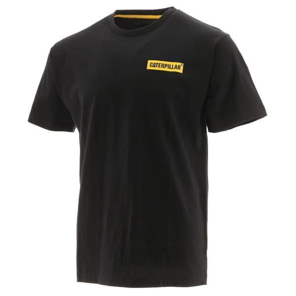 Caterpillar Icon Block S/S Tee Tee Shirts Black/Yellow